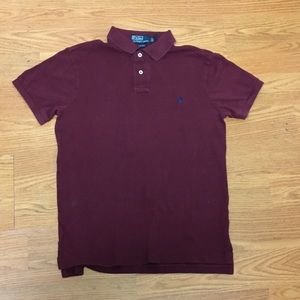 Men's polo Ralph Lauren's size M medium burgundy